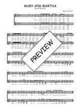 Téléchargez l'arrangement de la partition de Traditionnel-Mary-and-Martha en PDF à deux voix