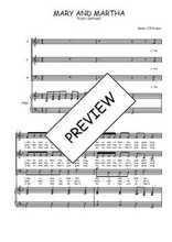 Téléchargez la partition de Mary and Martha en PDF pour 3 voix SAB et piano