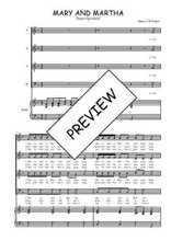 Téléchargez la partition de Mary and Martha en PDF pour 4 voix SATB et piano