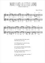 Téléchargez l'arrangement de la partition de Traditionnel-Mary-had-a-little-lamb en PDF à deux voix