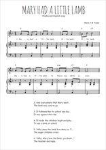 Téléchargez la partition de Mary had a little lamb en PDF pour Chant et piano