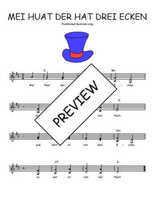 Téléchargez l'arrangement de la partition de Traditionnel-Mei-huat-der-hat-drei-Ecken en PDF à deux voix