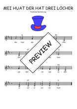 Téléchargez l'arrangement de la partition de Traditionnel-Mei-huat-der-hat-drei-Locker en PDF à deux voix