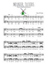 Téléchargez l'arrangement de la partition de Traditionnel-Meunier-tu-dors en PDF à deux voix