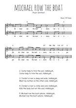 Téléchargez l'arrangement de la partition de Traditionnel-Michael-row-the-boat en PDF à deux voix