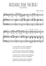Téléchargez la partition de Michael row the boat en PDF pour Chant et piano