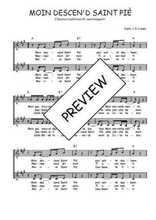 Téléchargez l'arrangement de la partition de Traditionnel-Moin-descen-d-saint-pie en PDF à deux voix