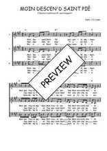 Téléchargez l'arrangement de la partition de Traditionnel-Moin-descen-d-saint-pie en PDF à trois voix