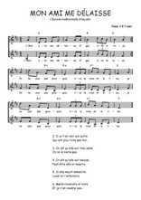 Téléchargez l'arrangement de la partition de Traditionnel-Mon-ami-me-delaisse en PDF à deux voix