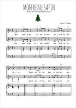 Téléchargez la partition de Mon beau sapin en PDF pour 2 voix égales et piano