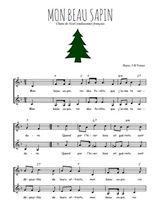 Téléchargez l'arrangement de la partition de noel-mon-beau-sapin en PDF à deux voix