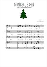 Téléchargez la partition de Mon beau sapin en PDF pour 3 voix SAB et piano