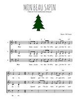 Téléchargez l'arrangement de la partition de noel-mon-beau-sapin en PDF à trois voix