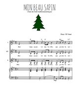Téléchargez la partition de Mon beau sapin en PDF pour 3 voix SSA et piano