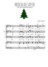 Téléchargez la partition de Mon beau sapin en PDF pour 3 voix TTB et piano