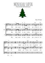 Téléchargez l'arrangement de la partition de noel-mon-beau-sapin en PDF pour trois voix d'hommes