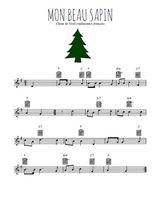 Téléchargez la partition en Sib de la musique noel-mon-beau-sapin en PDF