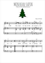 Téléchargez la partition de Mon beau sapin en PDF pour Chant et piano