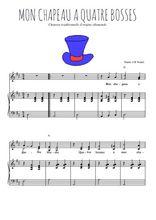 Téléchargez la partition de Mon chapeau en PDF pour 2 voix égales et piano