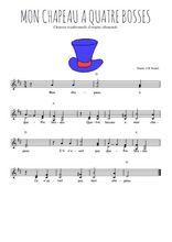 Téléchargez l'arrangement de la partition de Traditionnel-Mon-chapeau en PDF à deux voix