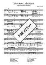 Téléchargez l'arrangement de la partition de Traditionnel-Mon-mari-pecheur en PDF à deux voix