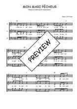 Téléchargez l'arrangement de la partition de Traditionnel-Mon-mari-pecheur en PDF à trois voix