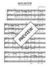 Téléchargez l'arrangement de la partition de Traditionnel-Mon-moine en PDF à trois voix