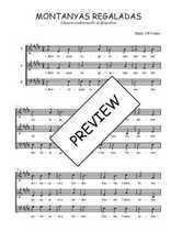 Téléchargez l'arrangement de la partition de Traditionnel-Montanyas-regaladas en PDF à trois voix