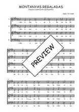 Téléchargez l'arrangement de la partition de Traditionnel-Montanyas-regaladas en PDF à quatre voix