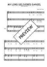 Téléchargez la partition de My Lord delivered Daniel en PDF pour 2 voix égales et piano