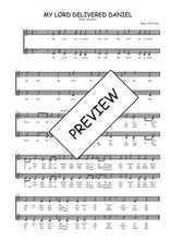 Téléchargez l'arrangement de la partition de Traditionnel-My-Lord-delivered-Daniel en PDF à deux voix