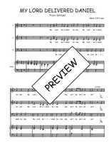Téléchargez la partition de My Lord delivered Daniel en PDF pour 3 voix SAB et piano