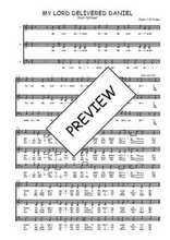 Téléchargez l'arrangement de la partition de Traditionnel-My-Lord-delivered-Daniel en PDF à trois voix