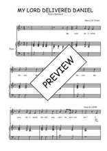 Téléchargez la partition de My Lord delivered Daniel en PDF pour Chant et piano