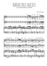 Téléchargez la partition de Nadal dels Aucels en PDF pour 2 voix égales et piano