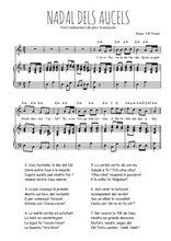 Téléchargez la partition de Nadal dels Aucels en PDF pour Chant et piano