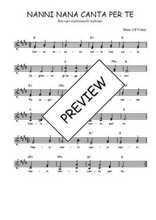 Téléchargez l'arrangement de la partition de Traditionnel-Nanni-nana-canta-per-te en PDF à deux voix