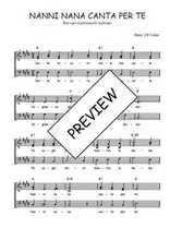 Téléchargez l'arrangement de la partition de Traditionnel-Nanni-nana-canta-per-te en PDF à trois voix