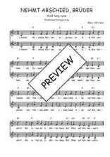 Téléchargez l'arrangement de la partition de Traditionnel-Nehmt-Abschied-Bruder en PDF à deux voix