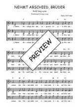 Téléchargez l'arrangement de la partition de Traditionnel-Nehmt-Abschied-Bruder en PDF à trois voix