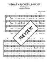 Téléchargez l'arrangement de la partition de Traditionnel-Nehmt-Abschied-Bruder en PDF à quatre voix
