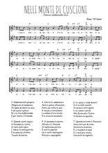 Téléchargez l'arrangement de la partition de Traditionnel-Nelli-monti-di-cuscioni en PDF à deux voix