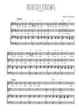 Téléchargez la partition de Nobody knows en PDF pour 2 voix égales et piano