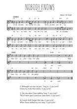 Téléchargez l'arrangement de la partition de gospel-nobody-knows en PDF à deux voix