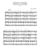 Téléchargez la partition de Nobody knows en PDF pour 3 voix SAB et piano