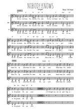 Téléchargez l'arrangement de la partition de gospel-nobody-knows en PDF pour trois voix de femmes
