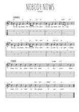 Téléchargez la tablature de la musique gospel-nobody-knows en PDF