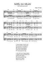 Téléchargez l'arrangement de la partition de Traditionnel-Noel-du-Velay en PDF à deux voix