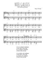Téléchargez l'arrangement de la partition de Traditionnel-Noel-gallois en PDF à deux voix