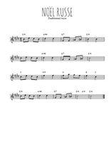 Téléchargez la partition pour saxophone en Mib de la musique noel-russe en PDF